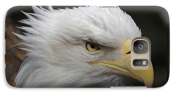 Galaxy Case featuring the digital art American Bald Eagle Portrait by Ernie Echols