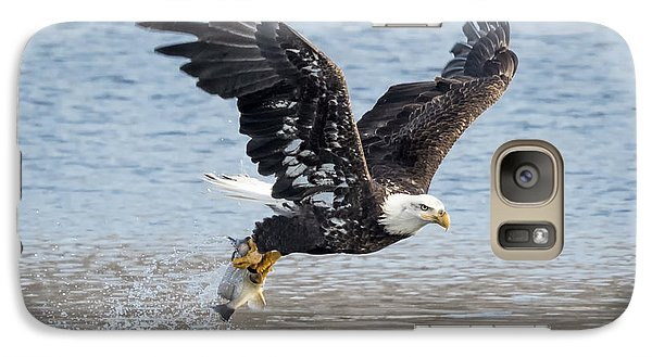 American Bald Eagle Taking Off Galaxy S7 Case by Ricky L Jones
