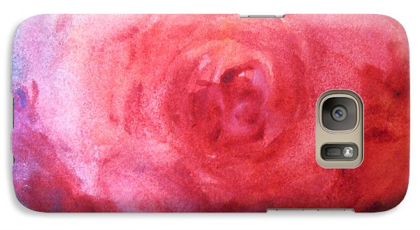 Galaxy Case featuring the painting American Beauty by Sandra Strohschein