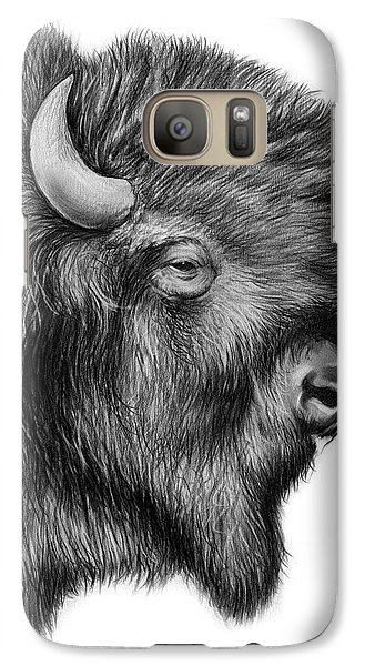 Buffalo Galaxy S7 Case - American Bison by Greg Joens