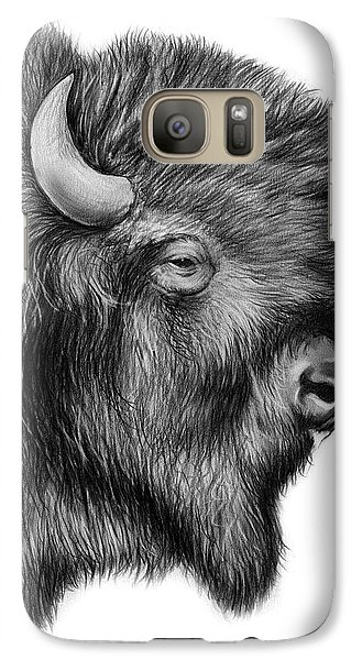 American Bison Galaxy S7 Case by Greg Joens