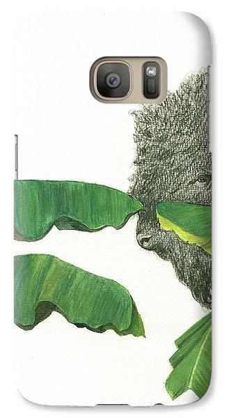 Banana Galaxy S7 Case - American Buffalo 1 by Juan Bosco