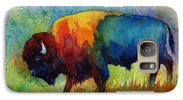 Galaxy Case featuring the painting American Buffalo IIi by Hailey E Herrera