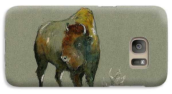 Buffalo Galaxy S7 Case - American Buffalo by Juan  Bosco