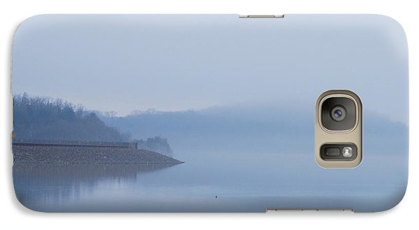 Galaxy Case featuring the photograph American Coot In Misty Fog 20120316_40a by Tina Hopkins