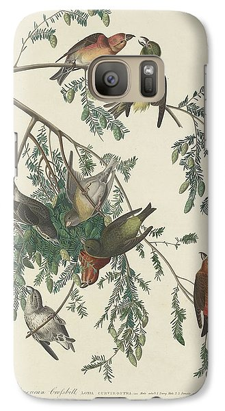 Crossbill Galaxy S7 Case - American Crossbill by Dreyer Wildlife Print Collections