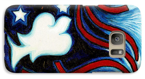 Galaxy Case featuring the painting American Dove by Genevieve Esson