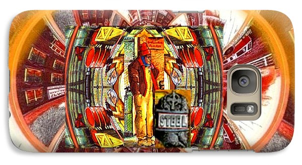 Galaxy Case featuring the digital art American Dream Burning - Workers Betrayed by Ray Tapajna