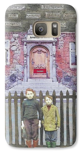 Galaxy Case featuring the mixed media American Dreams by Desiree Paquette