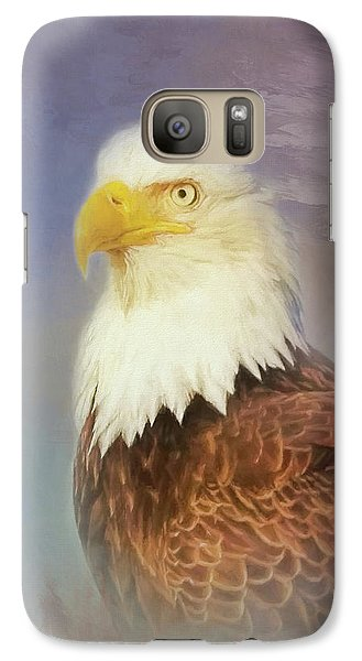 Galaxy Case featuring the painting American Eagle by Steven Richardson
