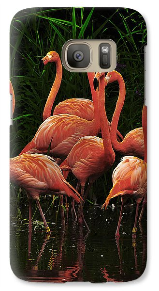 Galaxy Case featuring the photograph American Flamingo by Michael Cummings