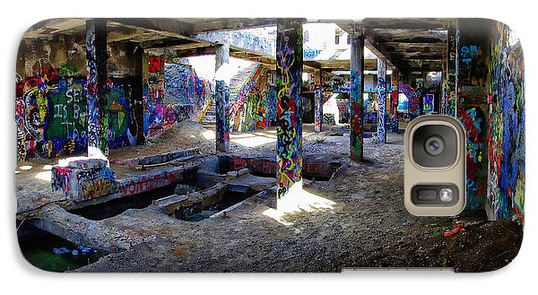 Galaxy Case featuring the photograph American Flat Mill Basement Virginia City Nevada by Scott McGuire