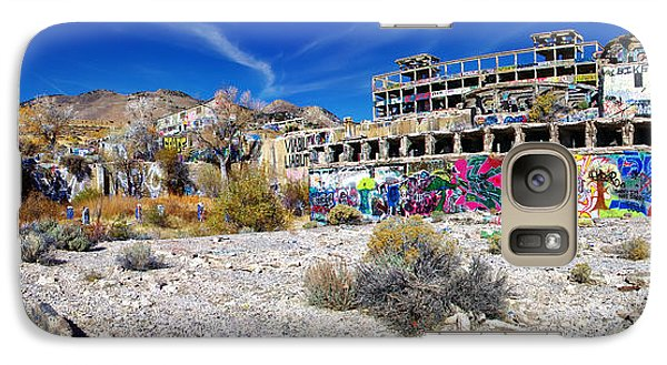 Galaxy Case featuring the photograph American Flat Mill Virginia City Nevada Panoramic by Scott McGuire