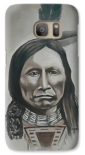 Galaxy Case featuring the painting American Horse by Michael  TMAD Finney