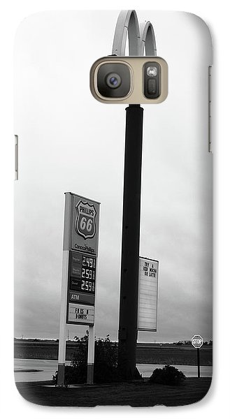 Galaxy Case featuring the photograph American Interstate - Illinois I-55 by Frank Romeo