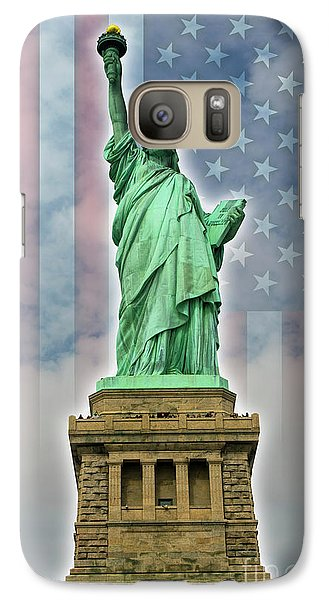 Galaxy Case featuring the digital art American Liberty by Timothy Lowry