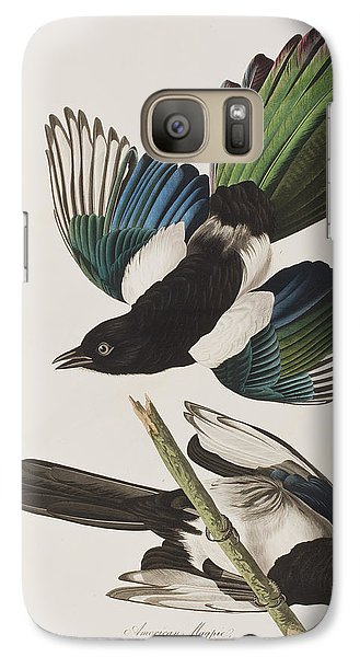Magpies Galaxy S7 Case - American Magpie by John James Audubon