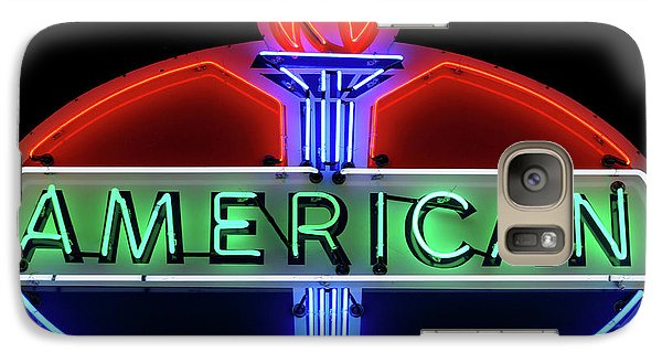 Galaxy Case featuring the photograph American Oil Sign by Sandy Keeton