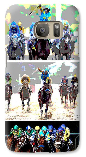 Galaxy Case featuring the mixed media American Pharoah by Charles Shoup