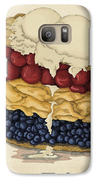 Galaxy Case featuring the drawing American Pie by Meg Shearer