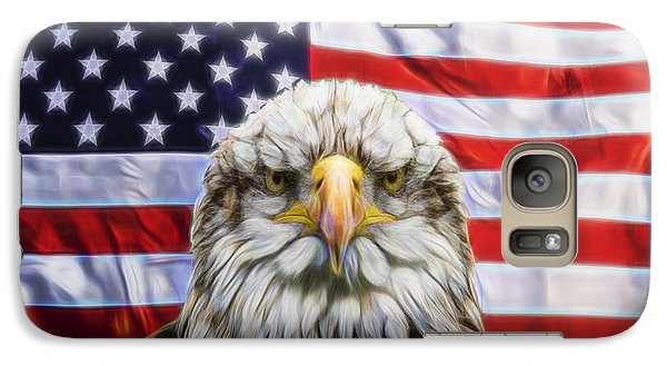 Galaxy Case featuring the photograph American Pride by Scott Carruthers