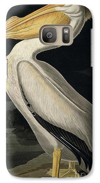 American White Pelican Galaxy Case by John James Audubon