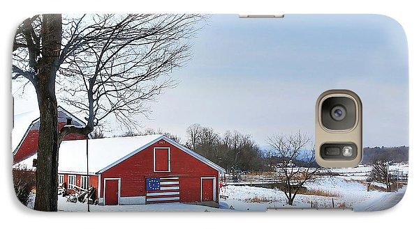 Galaxy Case featuring the digital art Americana Barn In Vermont by Sharon Batdorf