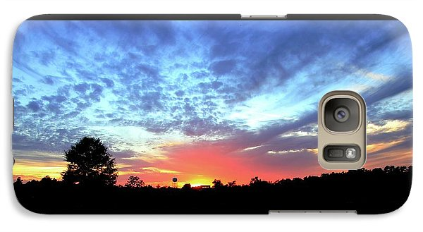 Galaxy Case featuring the photograph City On A Hill - Americus, Ga Sunset by Jerry Battle