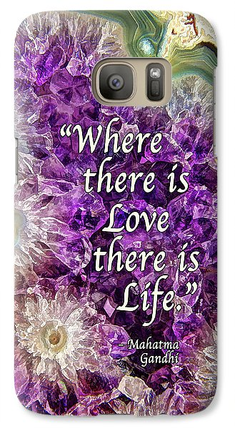 Galaxy Case featuring the photograph Amethyst Geode - Love by ABeautifulSky Photography