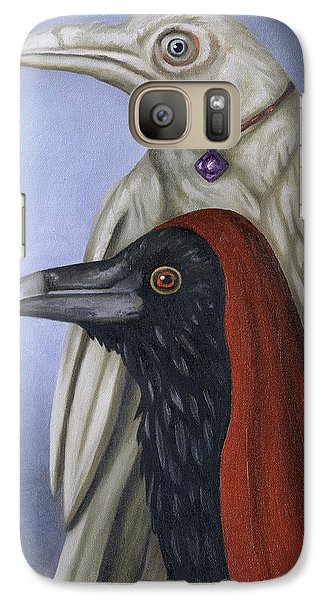 Galaxy Case featuring the painting Amethyst by Leah Saulnier The Painting Maniac