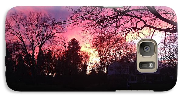 Galaxy Case featuring the photograph Amethyst Sunset by Rebecca Wood