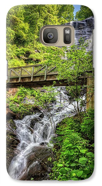 Galaxy Case featuring the photograph Amicalola Falls Top To Bottom by Debra and Dave Vanderlaan