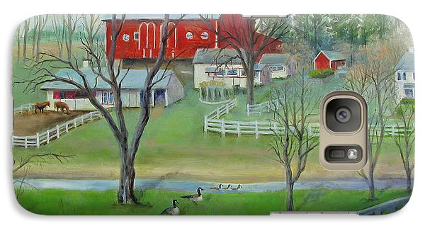 Galaxy Case featuring the painting Amish Farm by Oz Freedgood