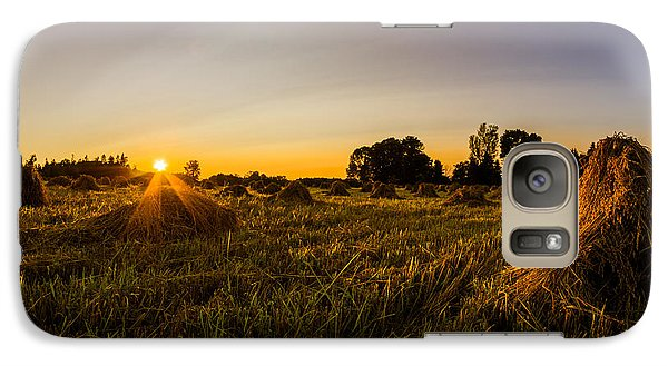 Galaxy Case featuring the photograph Amish Harvest by Chris Bordeleau