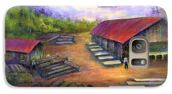 Galaxy Case featuring the painting Amish Lumbermill by Gail Kirtz