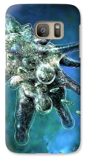 Galaxy Case featuring the digital art Amoeba Blue by Russell Kightley