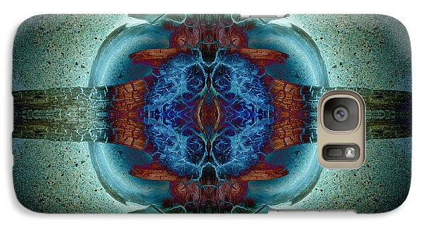 Galaxy Case featuring the photograph Amoebic Implosion by WB Johnston
