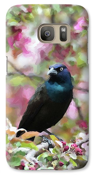Galaxy Case featuring the digital art Among The Blooms by Betty LaRue