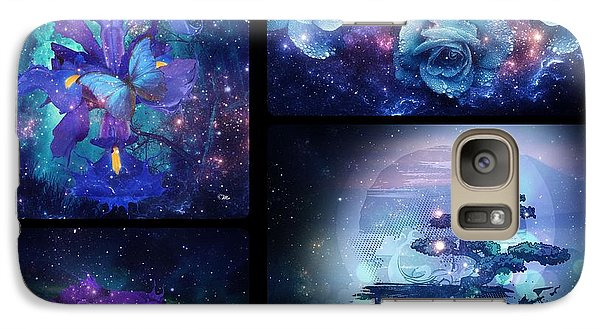 Galaxy Case featuring the digital art Among The Stars Series by Mo T