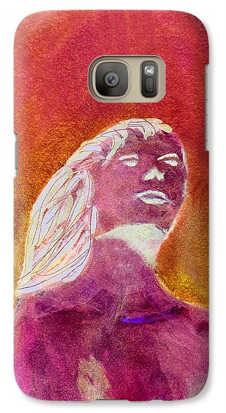 Galaxy Case featuring the painting Amphitrite Siren Of Sunset Reef by Donna Walsh