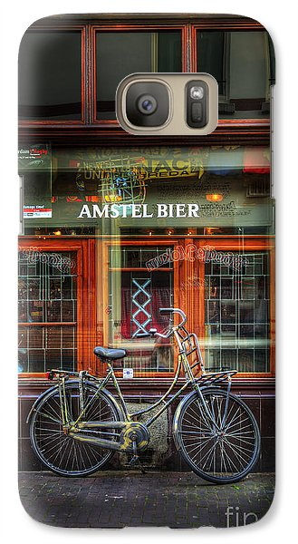 Galaxy Case featuring the photograph Amstel Bier Bicycle by Craig J Satterlee