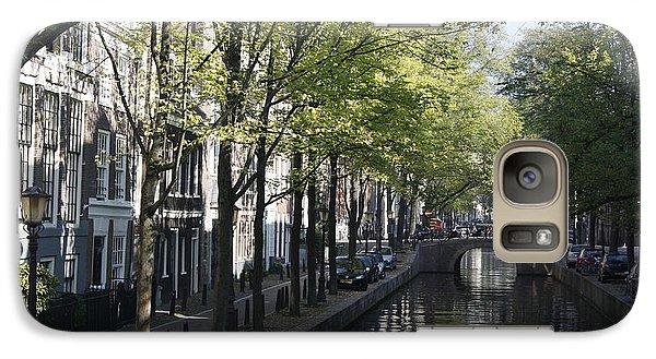 Galaxy Case featuring the photograph Amsterdam Canal by Wilko Van de Kamp
