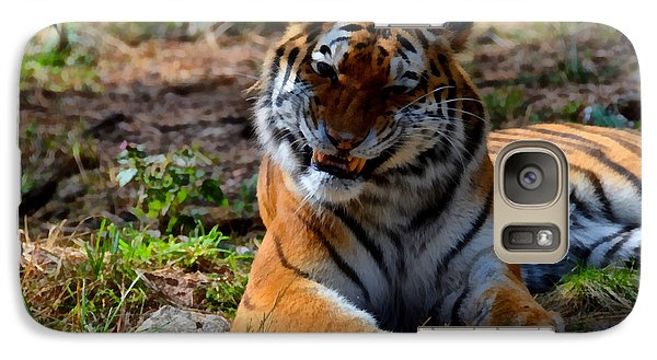 Galaxy Case featuring the mixed media Amur Tiger 4 by Angelina Vick