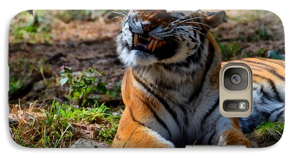 Galaxy Case featuring the mixed media Amur Tiger 6 by Angelina Vick