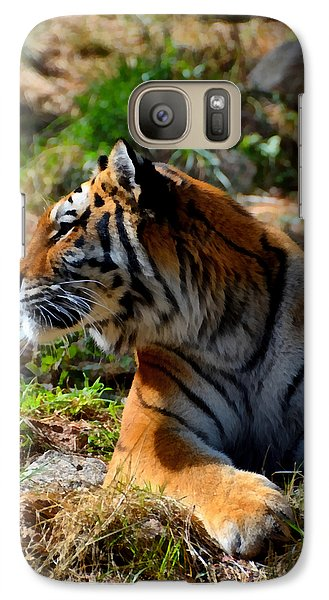 Galaxy Case featuring the mixed media Amur Tiger 9 by Angelina Vick