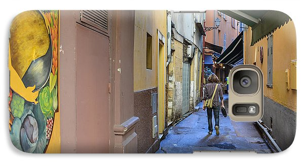 Galaxy Case featuring the photograph An Alley In Nice by Allen Sheffield