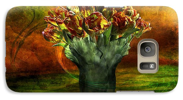 Galaxy Case featuring the digital art An Armful Of Tulips by Johnny Hildingsson