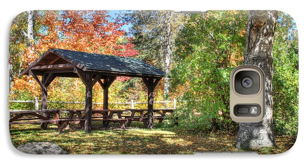 Galaxy Case featuring the photograph An Autumn Picnic In Maine by Shelley Neff