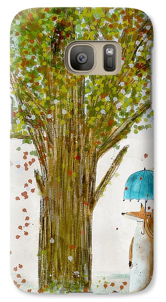 Galaxy Case featuring the painting An Autumns Day by Bri B