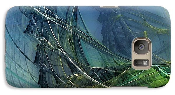 Galaxy Case featuring the digital art An Echo Of Speed by Karin Kuhlmann